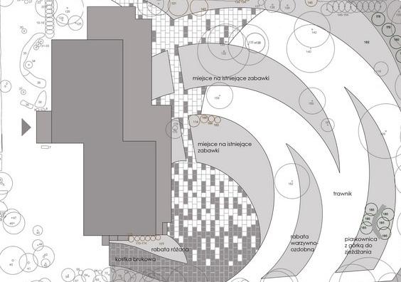rzut zaprojektowanego ogrodu
